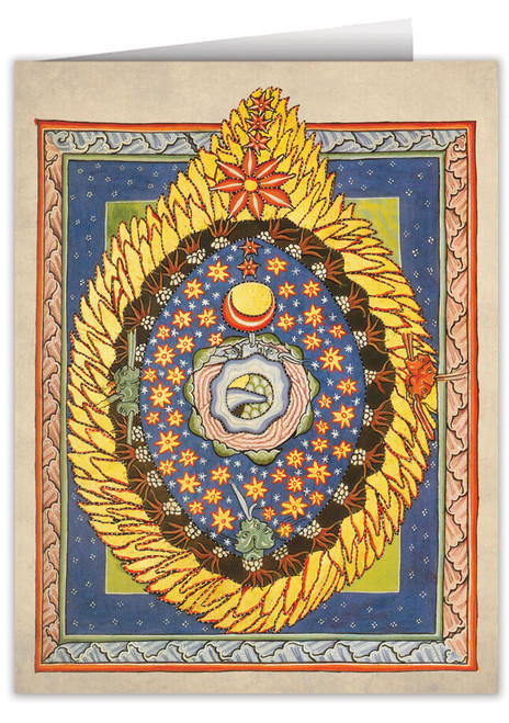 God, Cosmos, and Humanity by St. Hildegard von Bingen Note Card