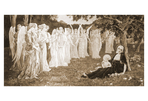 The Sleep of the Virgin by Élisabeth Sonrel Print
