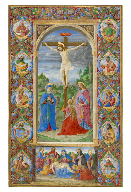 The Crucifixion with Prophets by Giuliano Amadei Print