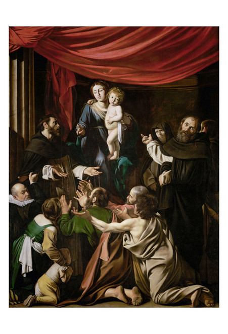 Madonna of the Rosary by Caravaggio Print