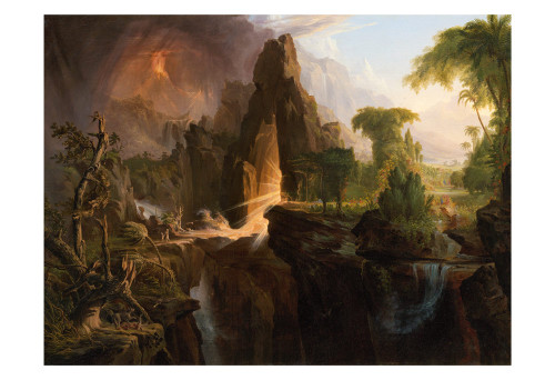 Expulsion from the Garden of Eden by Thomas Cole Print