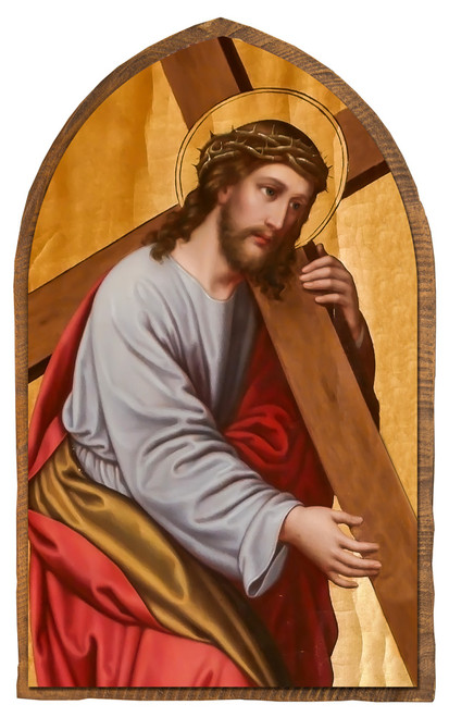 Christ on the Way to Calvary Cloister Collection Catholic Icon Plaque