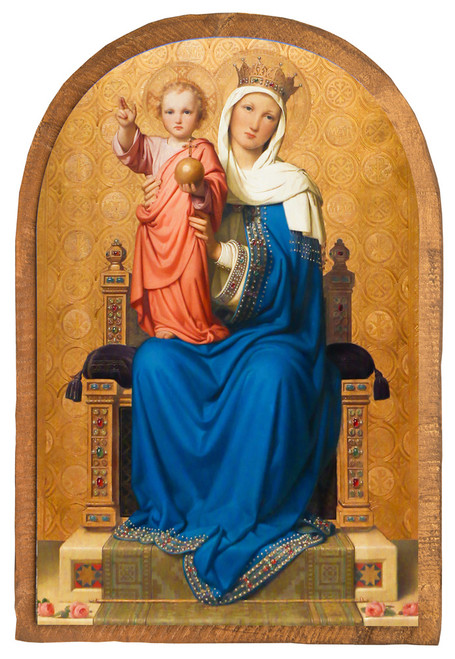 Mother of the World by Franz Ittenbach Cloister Collection Catholic Icon Plaque