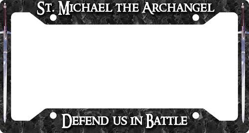 St. Michael Defend Us Plate Frame