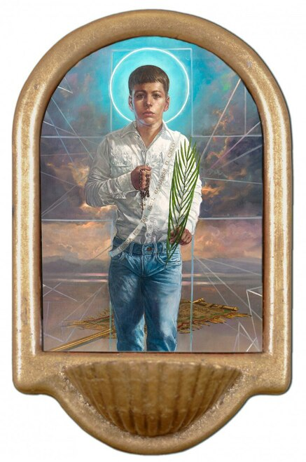 St. Jose Sanchez del Rio Holy Water Font