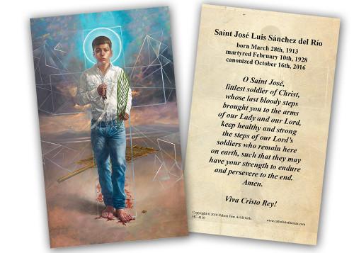 St. Jose Sanchez del Rio Holy Card