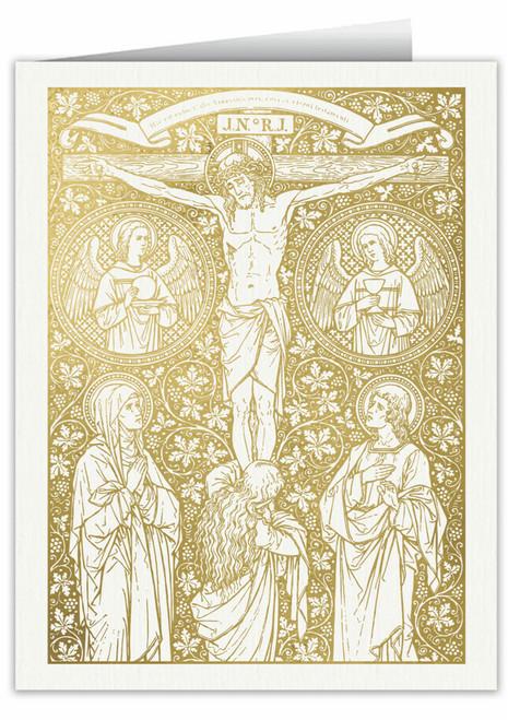 Hic est enim Calix Sanguinis Mei Woodcut Note Card