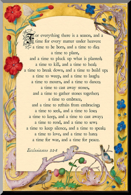 For Everything There is a Season Wall Plaque