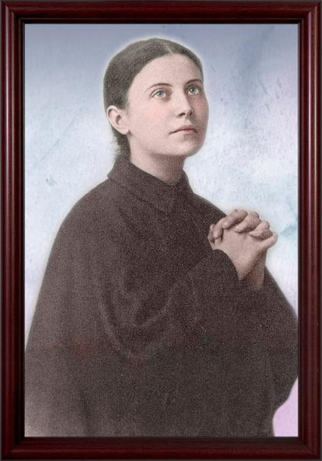 St. Gemma Galgani Cherry Framed Art