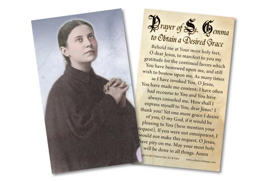 St. Gemma Galgani Holy Card
