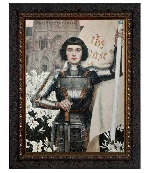 St. Joan of Arc by Albert Lynch - Ornate Dark Framed Art