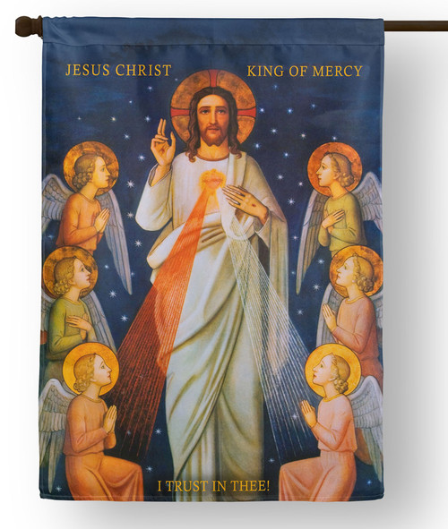 King of Divine Mercy Outdoor House Flag