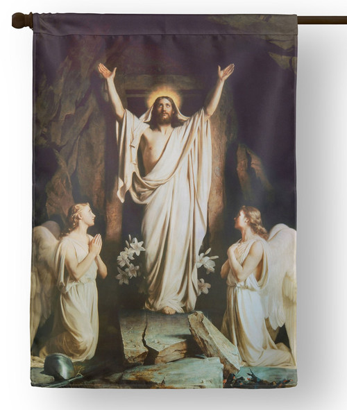 The Resurrection by Carl Bloch Outdoor House Flag