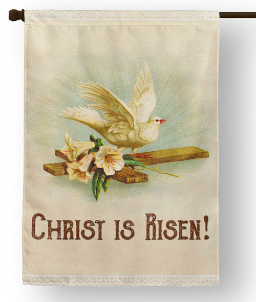 Christ is Risen Outdoor House Flag
