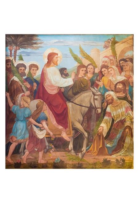 Christ's Triumphant Entry to Jerusalem Print