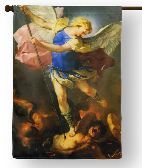 Saint Michael by Giordano Outdoor House Flag