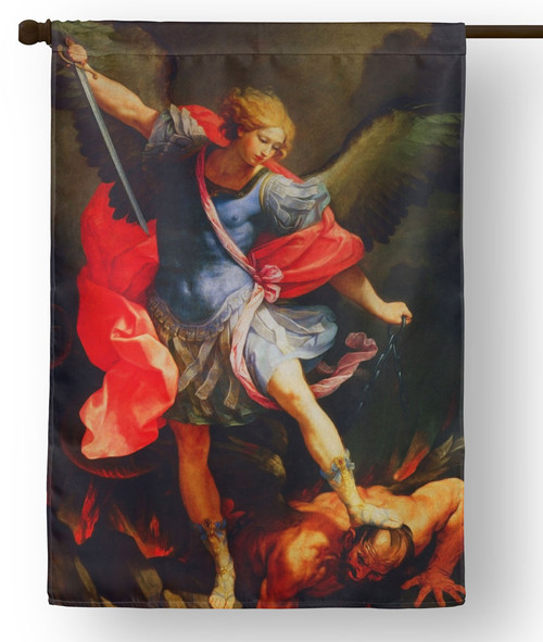 Saint Michael the Archangel Outdoor House Flag