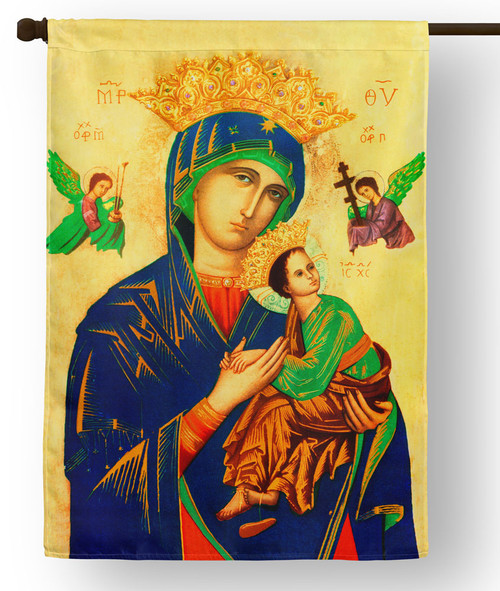 Our Lady of Perpetual Help Outdoor House Flag