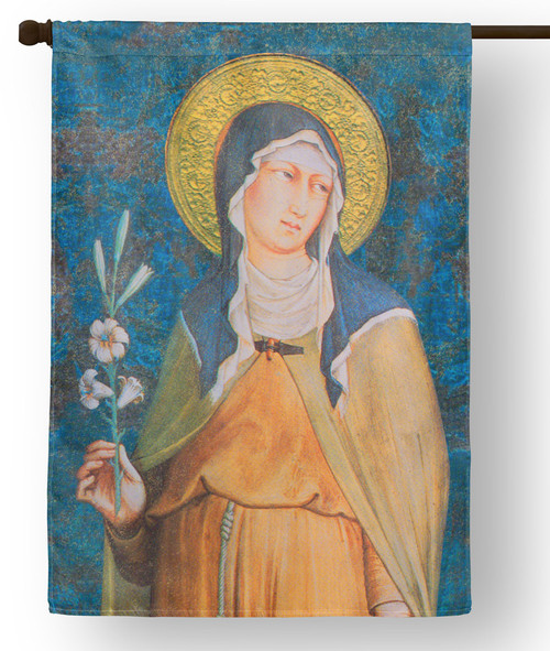 Saint Clare of Assisi Outdoor House Flag