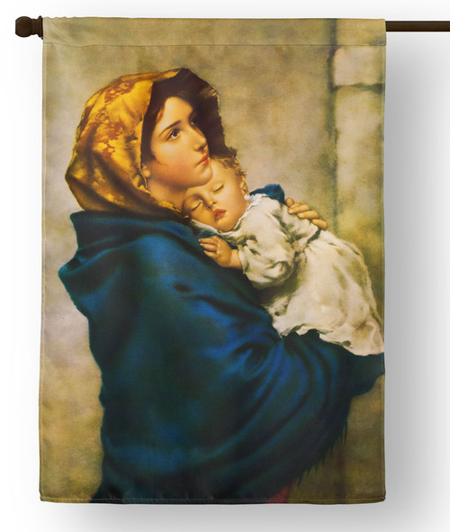 Madonna of the Streets Outdoor House Flag