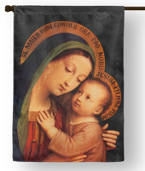 Our Lady of Good Counsel Outdoor House Flag