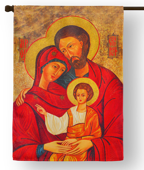Holy Family Icon Outdoor House Flag