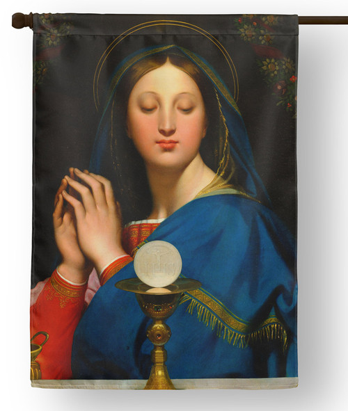 Madonna of the Host Outdoor House Flag