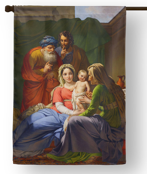 Holy Family with Grandparents Outdoor House Flag