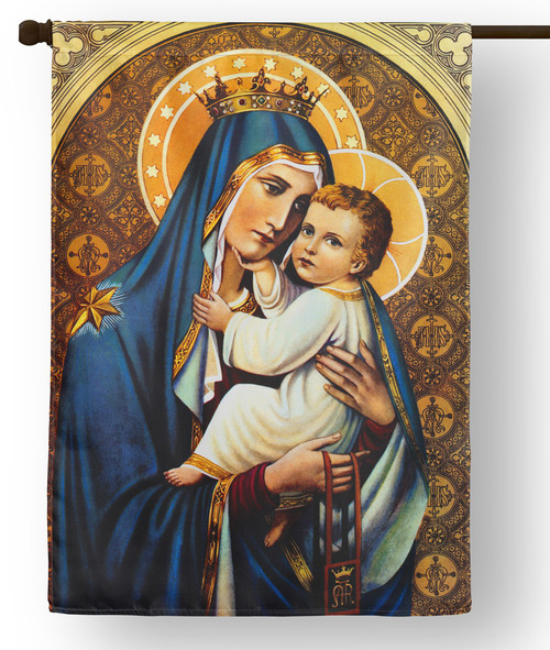 Our Lady of Mt. Carmel Outdoor House Flag