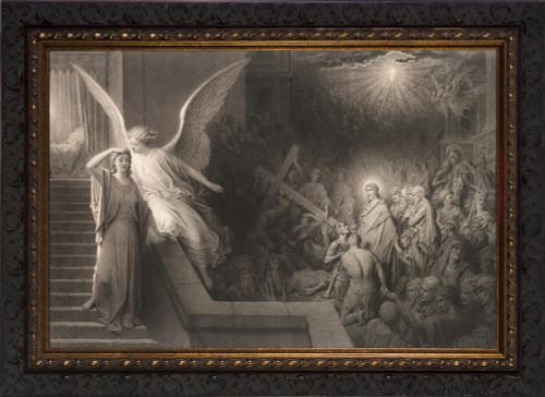 The Dream of Pilate's Wife - Ornate Dark Framed Art