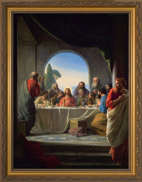 The Last Supper by Carl Bloch- Gold Framed Art