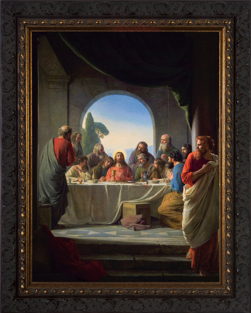 The Last Supper by Carl Bloch - Ornate Dark Framed Art