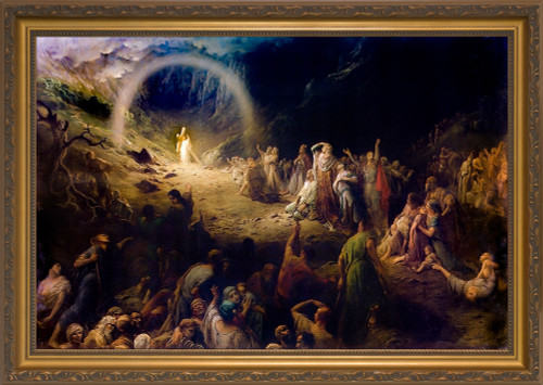 Vale of Tears by Gustave Doré - Gold Framed Art