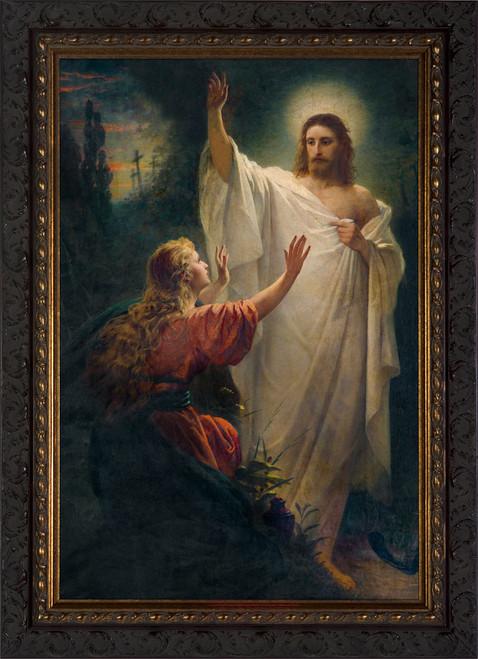 Easter Morning by Bernhard Plockhorst - Ornate Dark Framed Art