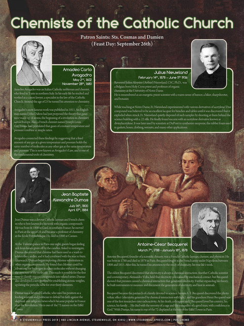 Chemists of the Catholic Church Notables Poster