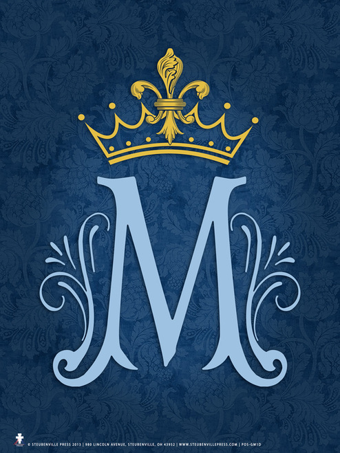 Marian Symbol Graphic Poster