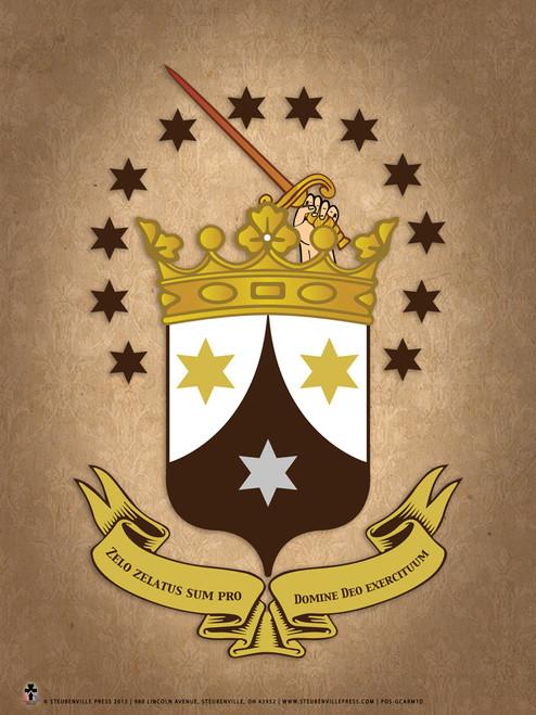 Carmelite Crest Graphic Poster