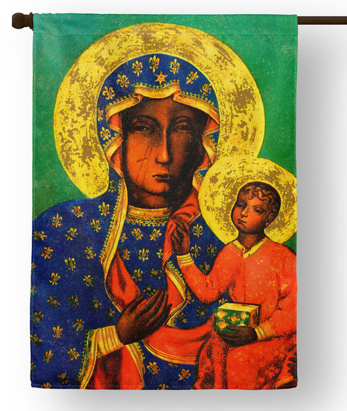 Our Lady of Czestochowa Outdoor House Flag