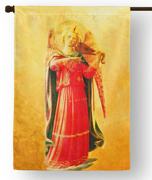 Fra Angelico Angel with Violin Outdoor House Flag