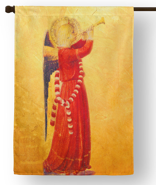 Fra Angelico Angel with Trumpet Outdoor House Flag