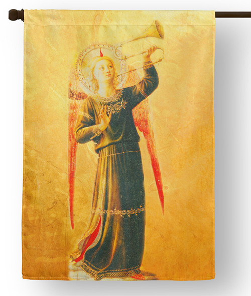 Fra Angelico Angel with Horn Outdoor House Flag