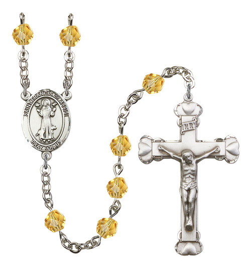 Hand-Made Silver Plate St. Francis of Assisi Rosary