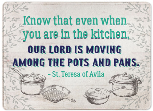 """""""Our Lord is Moving"""" Rectangular Glass Cutting Board"""