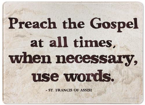 Preach the Gospel Rectangular Glass Cutting Board