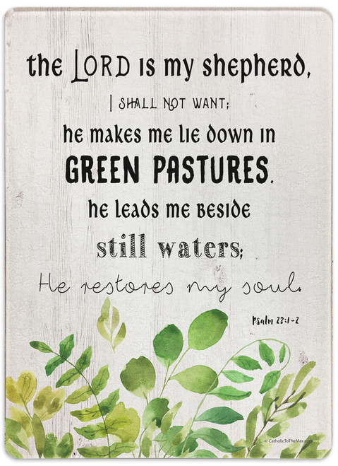 """The Lord is my Shepherd"" Rectangular Glass Cutting Board"