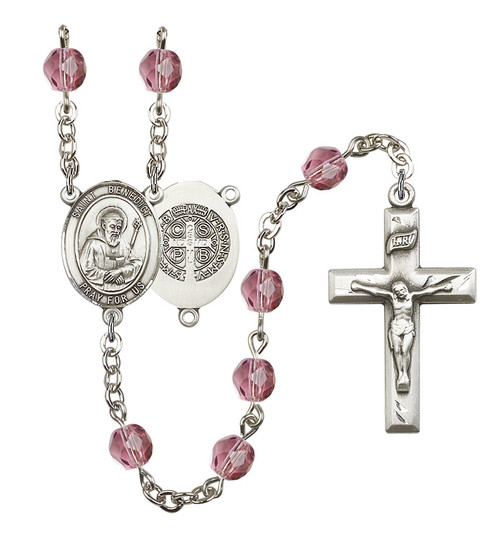 Hand-Made Silver Plate St. Benedict Rosary