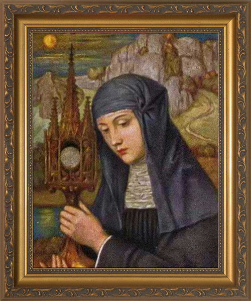 St. Juliana of Liège Framed Print