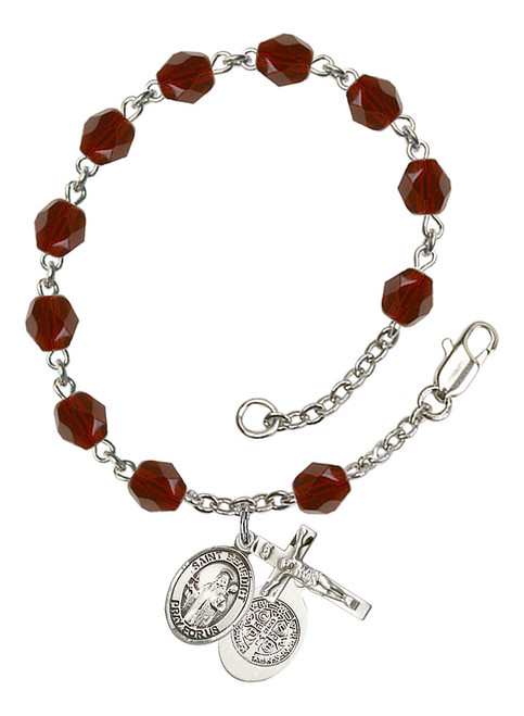 Hand Made Silver-Plated Rosary Bracelet with Mary Undoer of Knots Medal