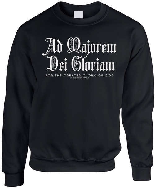 AMDG Black Crewneck Sweatshirt