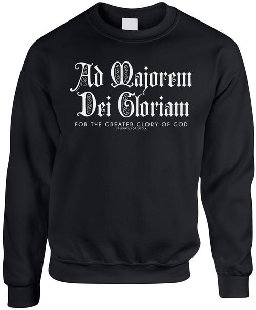 AMDG Black Crewneck Sweatshirt